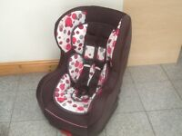 Kiddicare group 0+1 car seat for newborn upto 18kg(upto 4yrs)-rear and forward facing-washed&cleaned