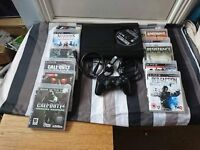 sony playstation 3 with 20 games