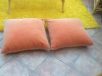 """IKEA orange cushions. 24"""" sq. in new condition .priced each"""