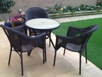 "Set of Table & Three Chairs ""Rattan"", 6 mths old"