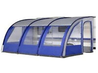 Caravan porch style awning 3900mm wide, in Blue