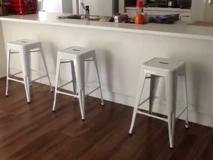 Replica Tolix Bar Stool Metal Steel Kitchen Cafe Chair Gloss 76cm