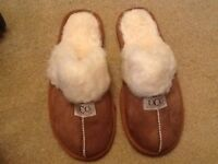 Brand New Suede and sheepskin slippers