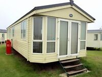 CHEAP HEATED STATIC CARAVAN FOR SALE AT SANDY BAY HOL PARK WITH DIRECT BEACH ACCESS OPEN 12 MONTHS