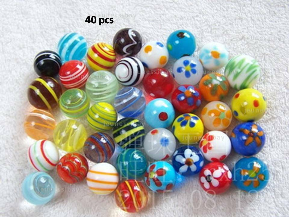 Marbles Design Play Types Unique Rare And Special Selected 40 Pcs Gl Toy Lot Of Mixed