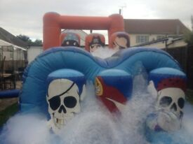 bouncy castle fun run with blower