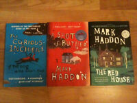 3 Mark Haddon Books Novels - The Curious Incident of the Dog, A Spot of Bother & The Red House