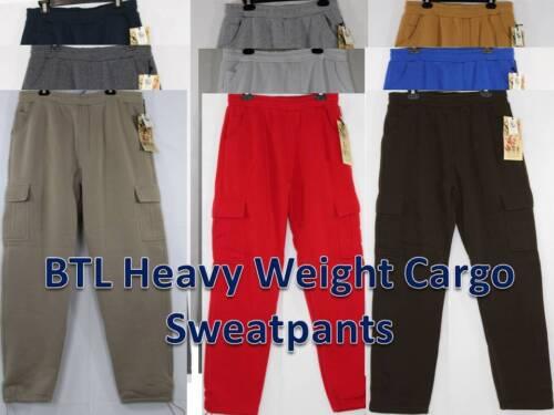 Btl Men Heavy Weight Cargo Fleece Sweatpants 9 Colors