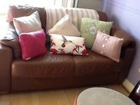Absolute bargain two leather two seater sofas need uplifted