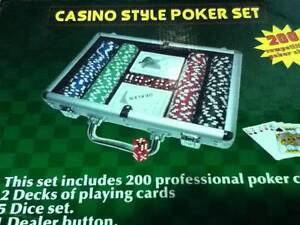 TEXAS HOLD EM -200 PROFESSIONAL CHIPS 11.5G CHIPS- COMES WITH DEA Labrador Gold Coast City Preview