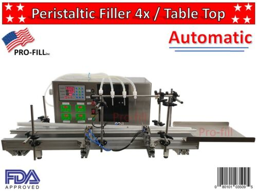 Automatic Peristaltic Filler 4x1000ml / Table Top