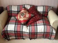 An unused double foam sofa bed.