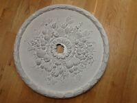 CEILING ROSE. PLASTER. 57.5cm diameter. Pick up Chiswick w4
