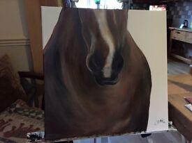Horse canvas painting
