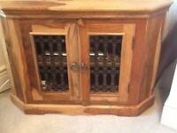 Sheesham corner tv cabinet