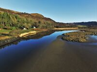 Holiday Cottages To Let on The Shores of Loch Caolisport, Argyll. Boats, Kayaks, Kids & Dogs Welcome