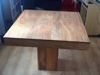 soild oak table and 4 chairs