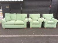 fabric 2 seater 2 chairs