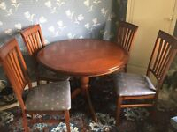 Cherrywood (Morris) Dining Table & 4 Chairs