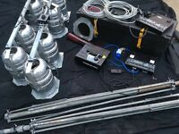 Stage Lights x8 par cans + stands + extras