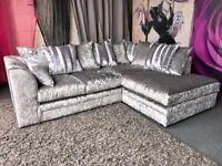 Shine Fabric *DYLAN CRUSH VALVET* (Corner & 3+2 Seated Sofa) For Sale