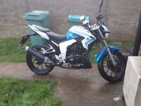 2017 lexmoto venom 125 cc blue and white