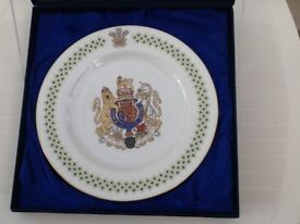 Commenters tie plate of Prince Charles investiture plus programme and original file of music etc