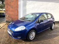 Fiat Punto Active 3 door model 2008 68k electric blue brand new mot and service