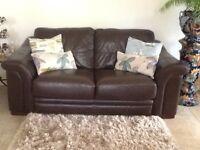 2 seater genuine leather sofa