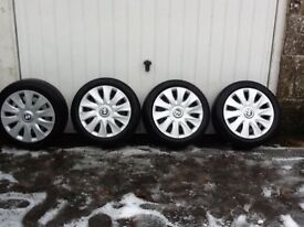 BMW wheels with run flat winter tyres.