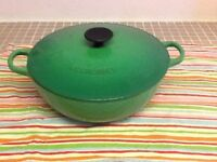 Genuine La Creuset cast iron casserole dish with lid. Cost £150 new.