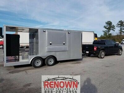 New 8.5x18ta Bbq Porch-food Truck-concession Trailer