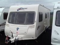 2008 Bailey pageant Champagn 4 berth end changing room with awning