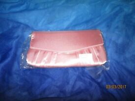 BABY PINK SILKY CLUTCH BAG BRAND NEW IN PACKET measures 9 x 5 inch