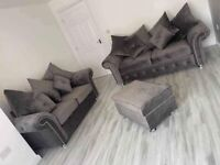 High Quality Plush velvet Ashwin Corner & 3+2 Set -Colors Available- 12 Months Warranty