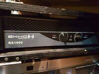 dj speakers rig bass bins tops speaker set up , 2x bass bins 2x tops 1100w with upgraded 1500w amp