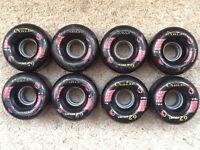 Kryptonics Route 62 Quad Skate Wheels (Black)
