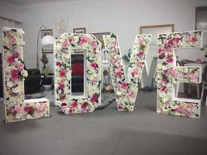 1.2m Floral LOVE Letters - Exquisite Wedding Centrepiece Castle Hill The Hills District Preview