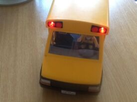 Playmobil Childs school bus adult driver with box