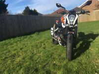 KTM Duke 125 2013 White ABS