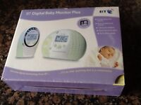 BT Digital Baby Monitor Plus - including original box, carry case and instructions
