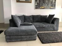 AMAZING OFFER 🍻BRAND NEW DYLAN JUMBO CORD CORNER OR 3 & 2 SEATER SOFA-ORDER NOW