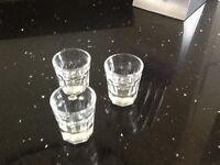 Six shot glasses