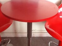 Red Hygena stools and table , a couple of little marks, otherwise good condition