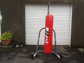 Boxing punch bag and Everlast stand