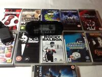 Psp street handheld console with games and accessories