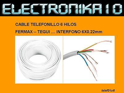 CABLE interfono Fermax Tegui Al corte. 6x0.22 blanco videoportero portero 2mts.