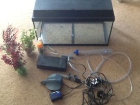 Fish tank with everything needed to get you started
