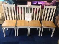 4 x Sturdy Matching High-Back Chairs ludlow pine white finish brand new