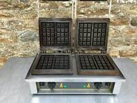 Waffle press contact grill